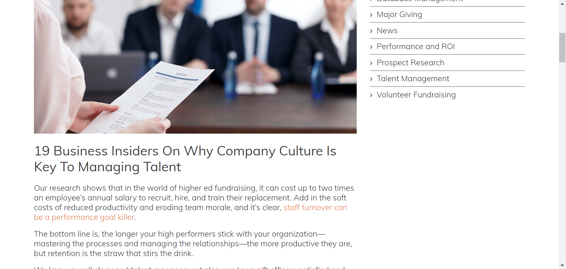Kieran comments on company culture