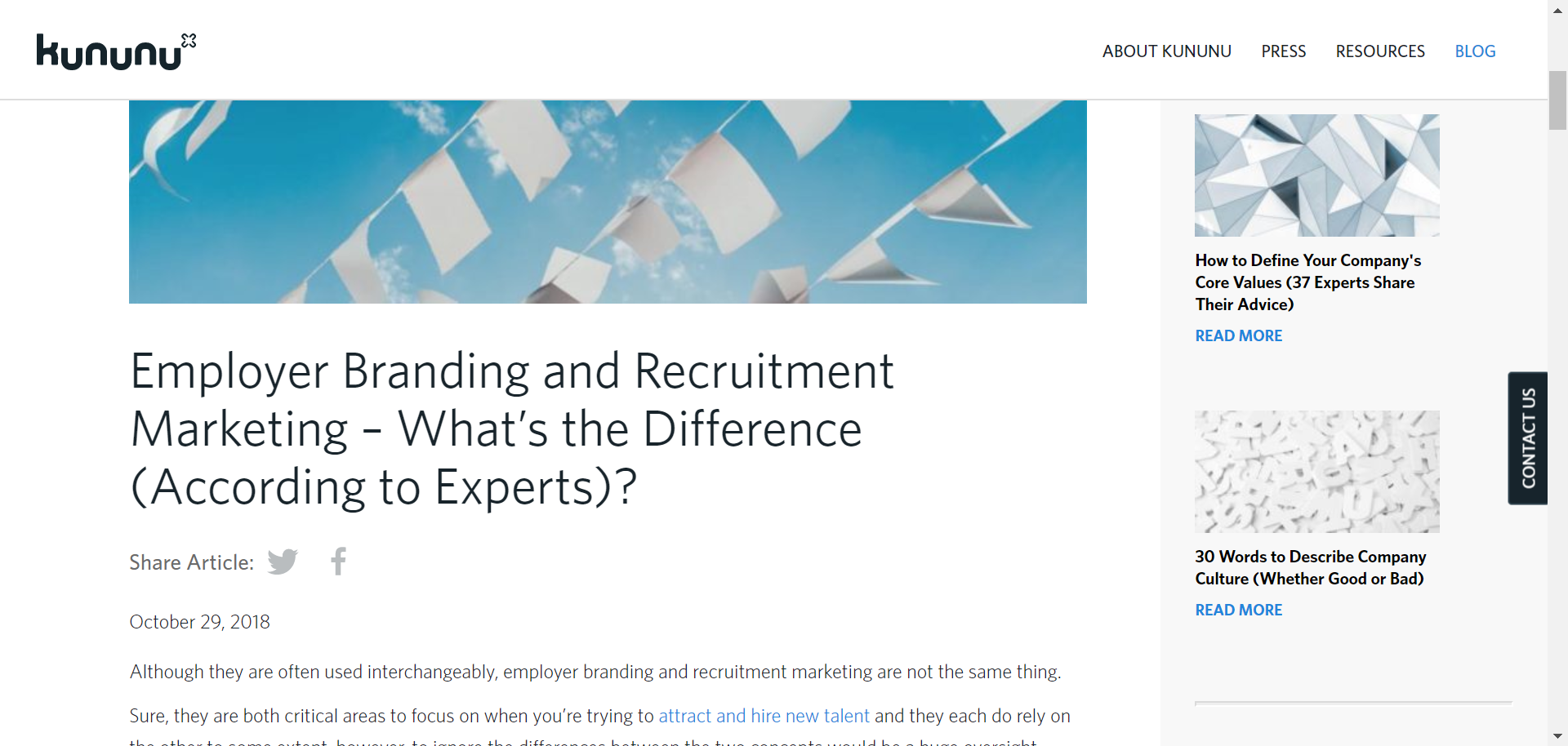 Susan comments on employer branding and recruitment marketing