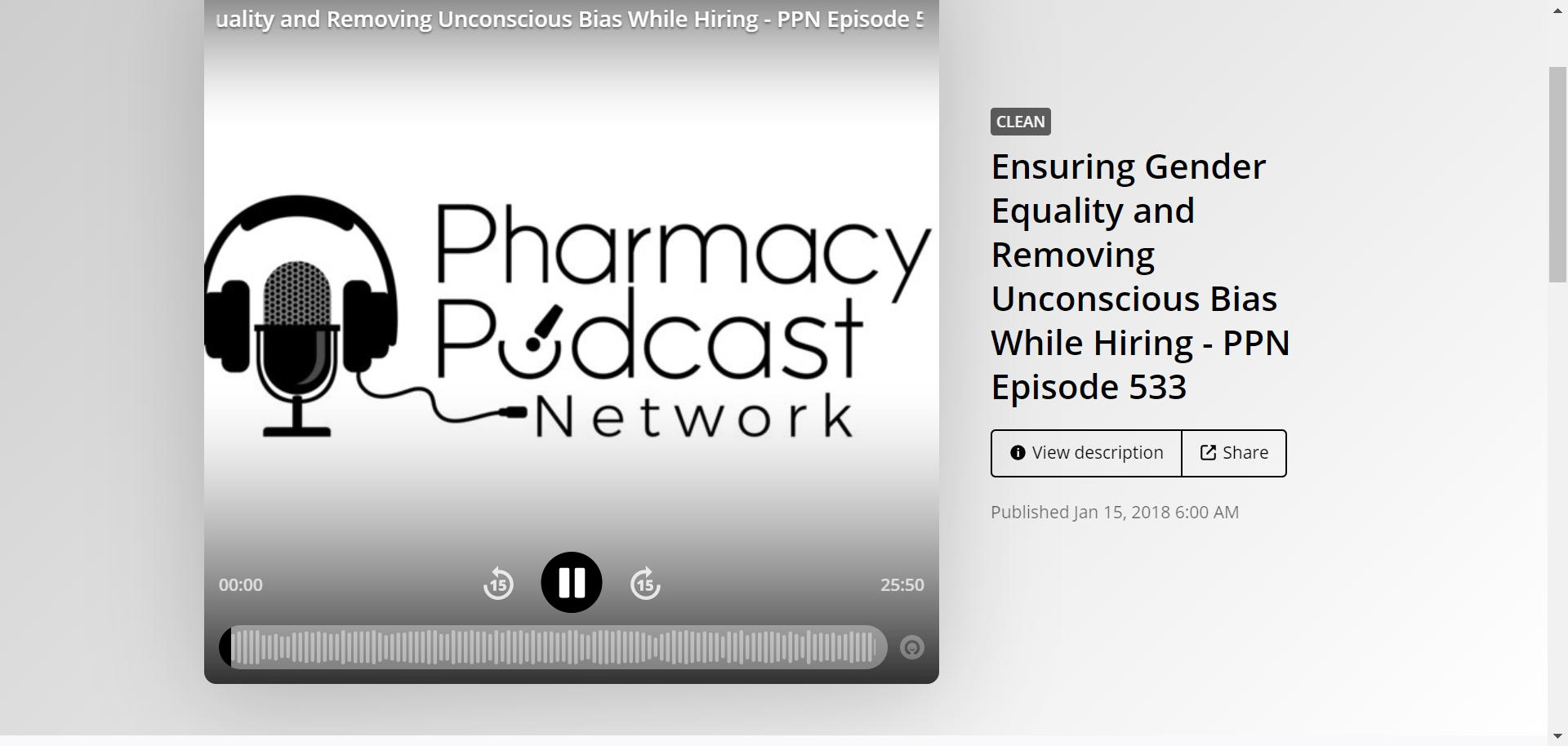 Kieran on Pharmacy Podcast Network